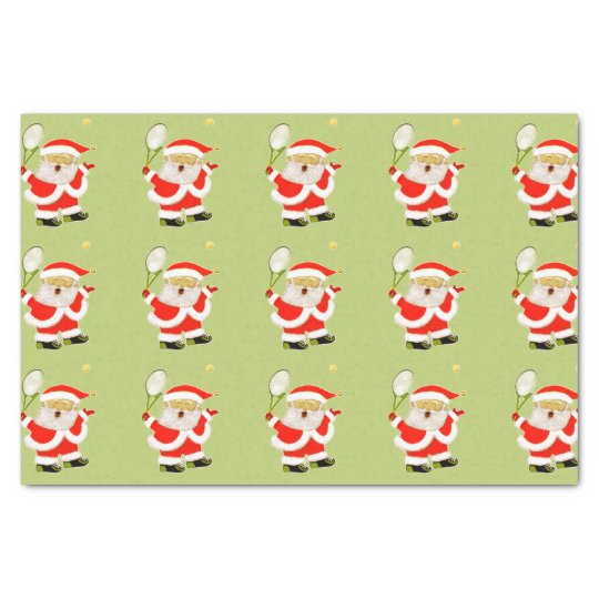 tennis Christmas Tissue Paper