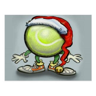 Tennis Chrsitmas Post Cards