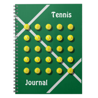 Tennis Coach, personalized Spiral Notebook