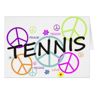 Tennis Colored Peace Signs Card