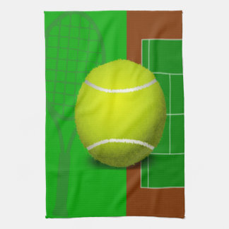 Tennis Court and Racquets Kitchen Towel