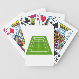 Tennis Court Bicycle Playing Cards
