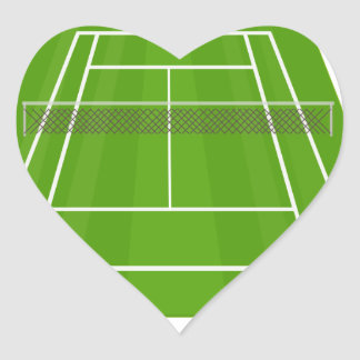 Tennis Court Heart Sticker