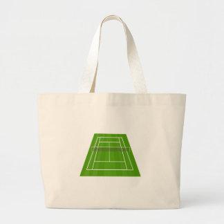 Tennis Court Large Tote Bag