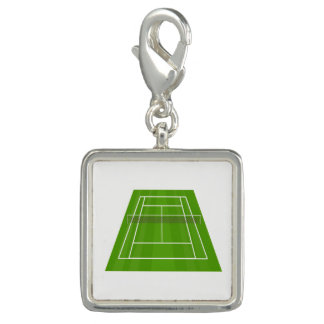 Tennis court photo charm