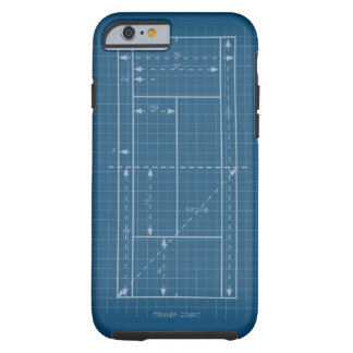 Tennis Court Tough iPhone 6 Case