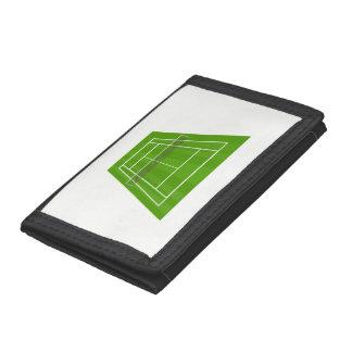 Tennis court tri-fold wallet