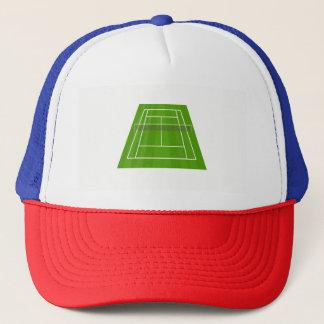 Tennis court trucker hat