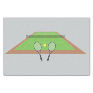 Tennis Court With Rackets Tissue Paper