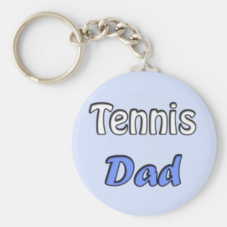 Tennis Dad Keychain