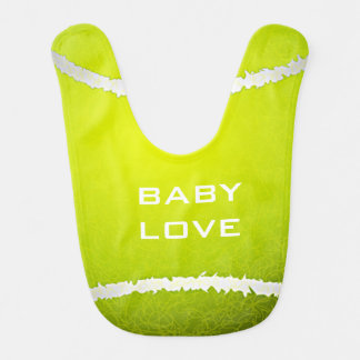 Tennis Design Baby Bib