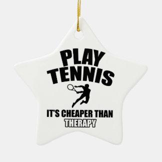 Tennis   design ceramic ornament