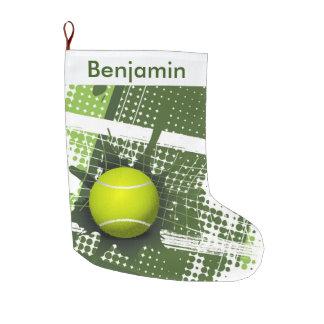 Tennis Design Large Christmas Stocking