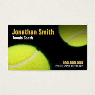Tennis donnant des leçons particulières pour cartes de visite