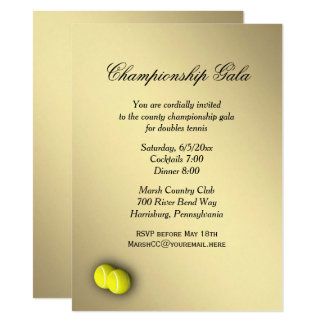 Tennis Doubles Gala Invitation