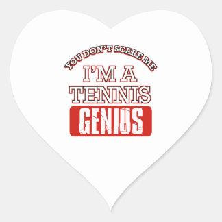 tennis  genius heart sticker