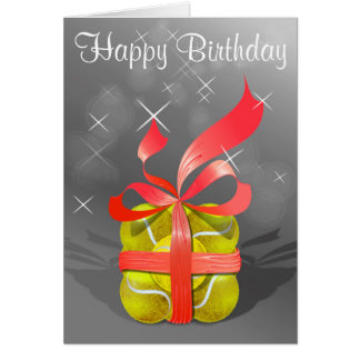 Tennis Happy Birthday Card