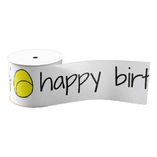 Tennis Happy Birthday Ribbon Grosgrain Ribbon