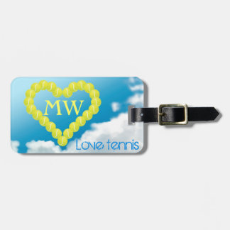 Tennis heart, Love, personalized Luggage Tag