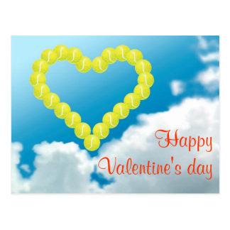 Tennis Heart, Valentine's day Postcard
