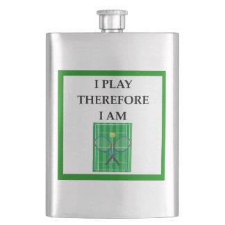 tennis hip flask