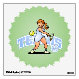 Tennis, Hit'm hard Wall Decal