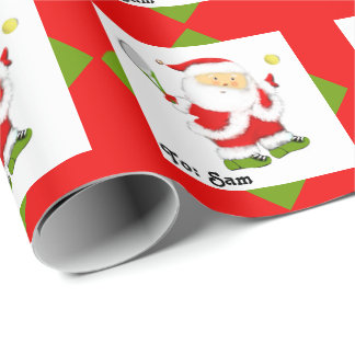 Tennis Holidays Wrapping Paper