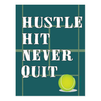 Tennis Hustle Postcard