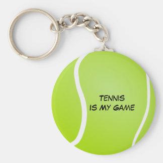 Tennis Is My Game Basic Round Button Keychain