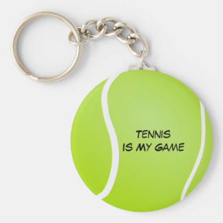 Tennis Is My Game Keychain