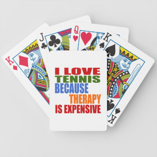 Tennis Is My Therapy Bicycle Playing Cards