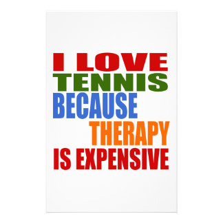 Tennis Is My Therapy Stationery