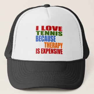 Tennis Is My Therapy Trucker Hat
