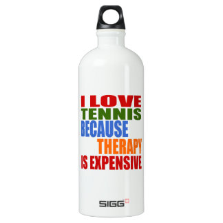 Tennis Is My Therapy Water Bottle