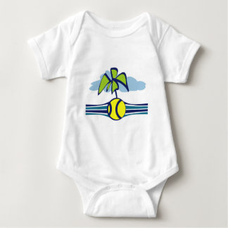 Tennis Island Tropical Summer Baby Bodysuit