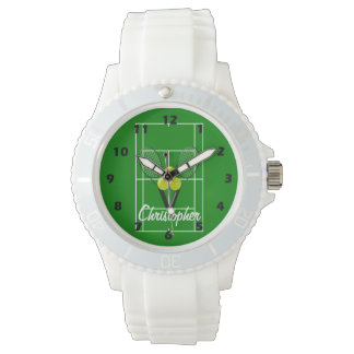 Tennis Just Add Name Wristwatch