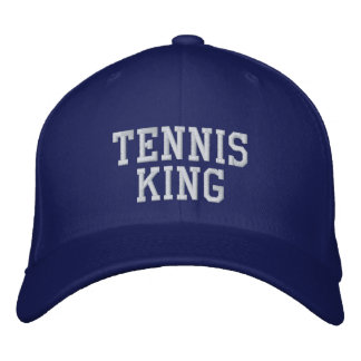 Tennis King Embroidered Hats
