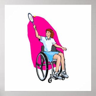 Tennis Lady Print