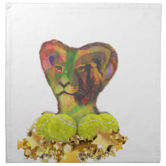 Tennis, Lion and the Stars Napkin