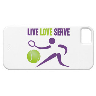 Tennis Live Love Serve iPhone 5 Cover