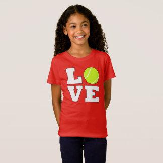 Tennis LOVE Girl's Custom Color Tennis T-shirt
