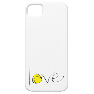"""Tennis Love iPhone 5/5S """"Barely There"""" Case"""