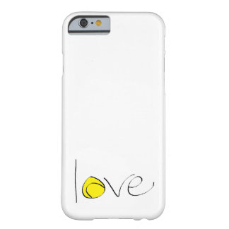 """Tennis Love iPhone 6 """"Barely There"""" Case (small)"""