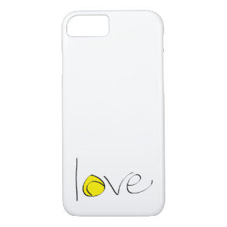"Tennis Love iPhone 7 ""Barely There"" Case (small)"