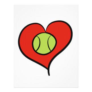 Tennis love letterhead