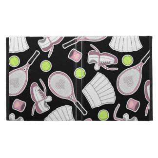 Tennis Love Pattern Pink and Black iPad Cases