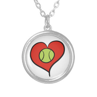 Tennis love silver plated necklace