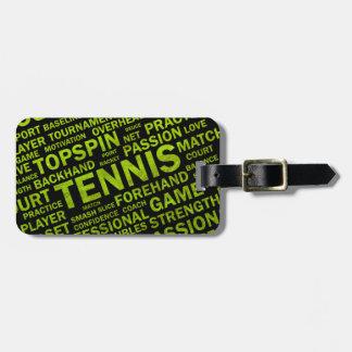 Tennis Luggage Tag