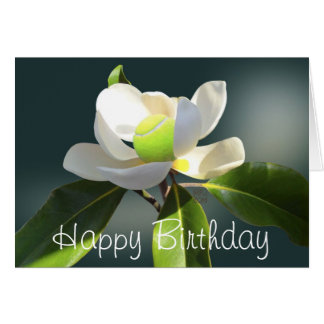 Tennis Magnolia Happy Birthday Card
