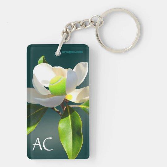 Tennis Magnolia, personalized Double-Sided Rectangular Acrylic Keychain